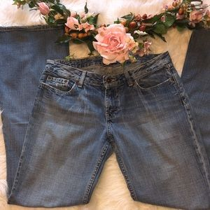 BKE 34/32Faded Distressed Flared Jeans